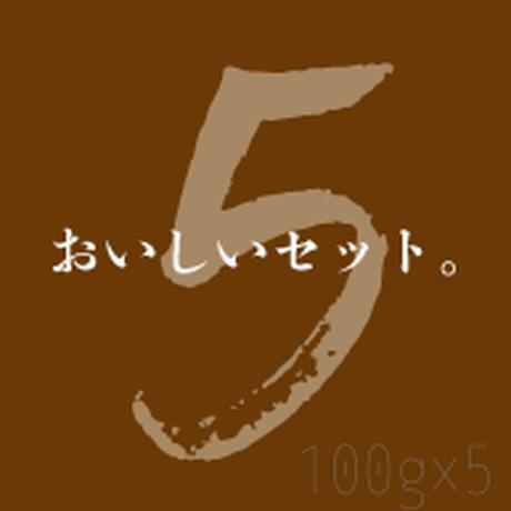 【送料無料】おいしいセット100gx5種