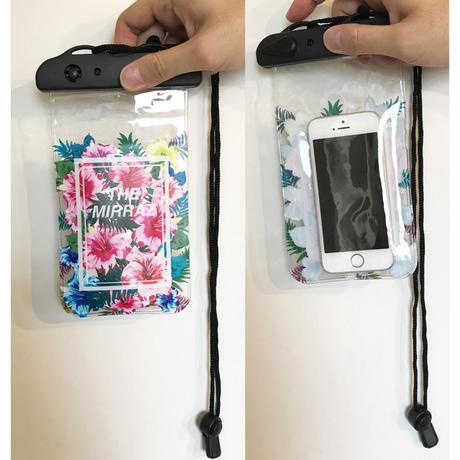 SummerVacation防水携帯ソフトケース(17.6cm×10.5cm/46cmストラップ付き)