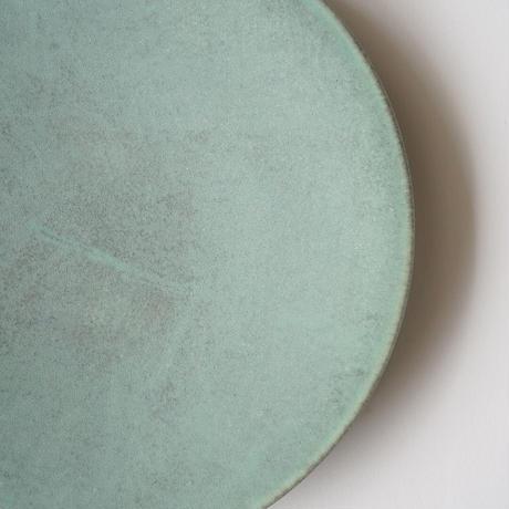 和田山真央・平皿L /微細結晶(緑 )