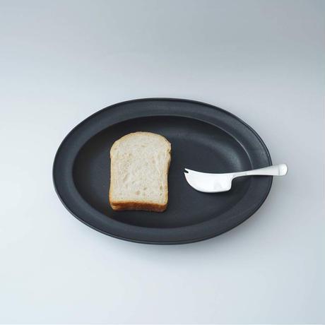 山本拓也・黒オーバル皿(L)