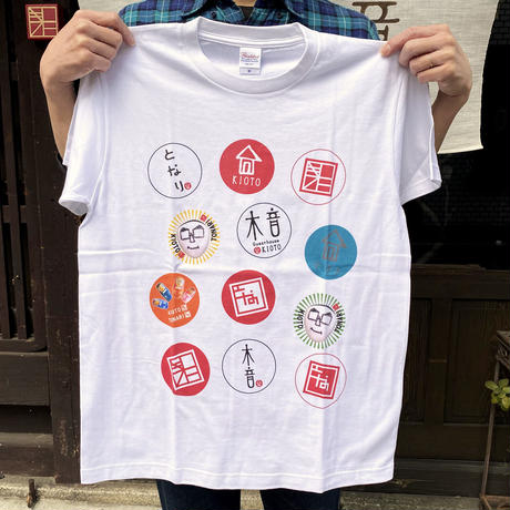 木音バッジTシャツ/ホワイト