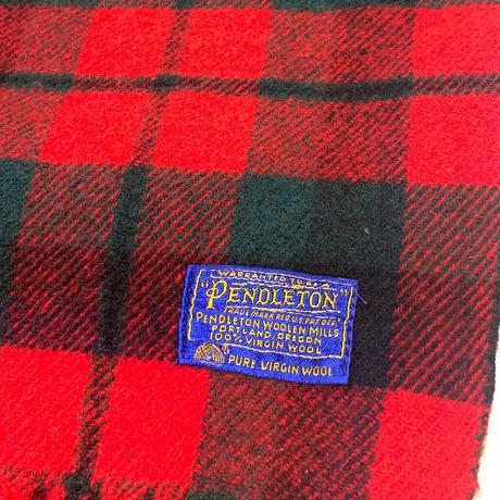 60-70's PENDLETON WOOL BLANKET size 180x140