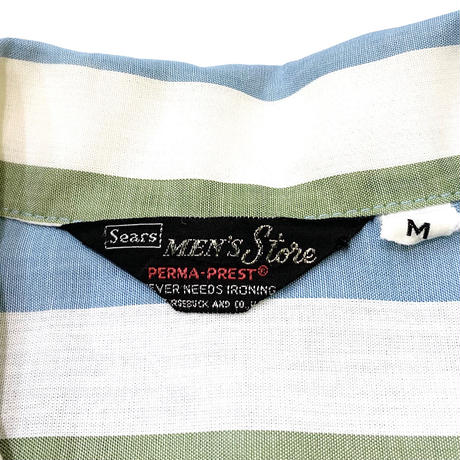SEARS PERMA-PREST STRIPED SHIRT size M