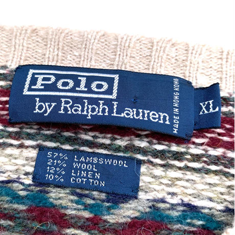 Polo by Ralph Lauren Vneck Knit  size XL