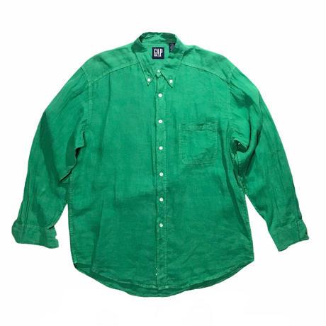 GAP Linen Shirt Size-L 90s~