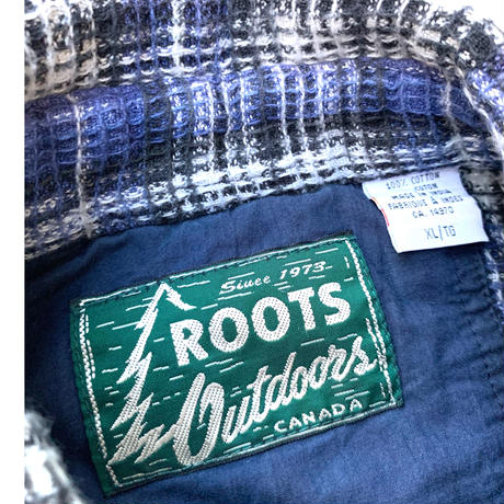 ROOTS OUTDOORS CHECK SHIRT size XL
