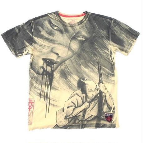 """参代目彫よし  T-SHIRT  """"Made by Affliction""""  Size-L"""
