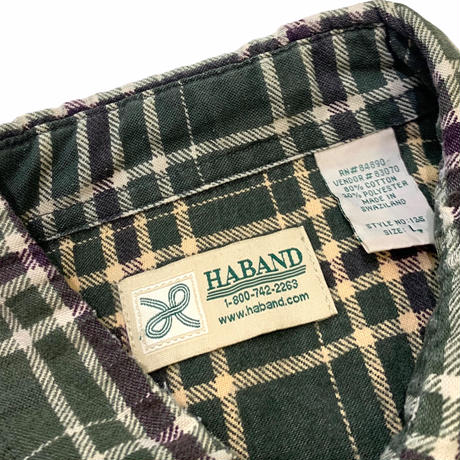 HABAND NEL SHIRT  size L