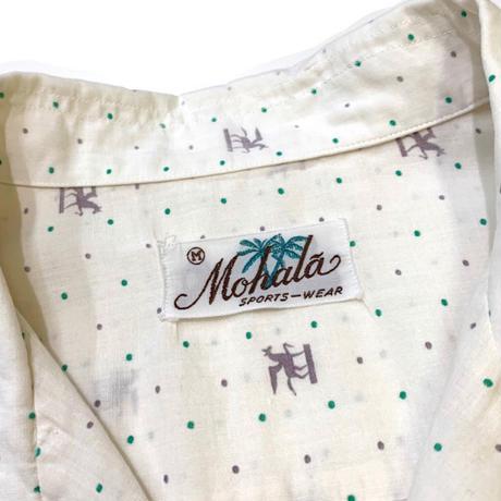 Vintage Mohala Open Collar Shirt size M