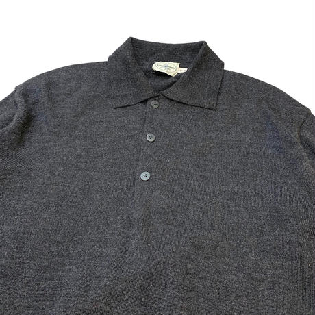 MERINO WOOL KNIT POLO SHIRT MADE IN ITALY🇮🇹 size M