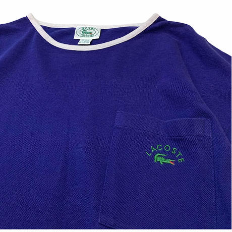 80's〜 IZOD LACOSTE T-SHIRT MADE IN USA🇺🇸 size M〜L程
