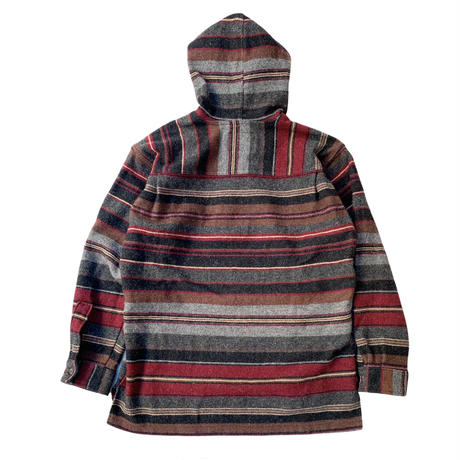 90's〜 WOOL RICH STRIPED WOOL HOODIE MADE IN USA🇺🇸 size M