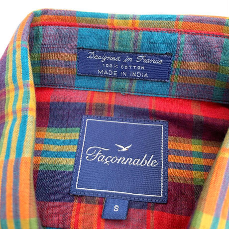 NEW FACONNABLE CHECK B.D SHIRT size M程
