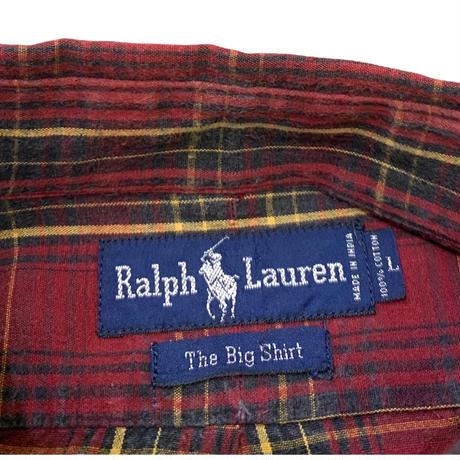 Ralph Lauren Checked Shirt・The Big Shirt size L
