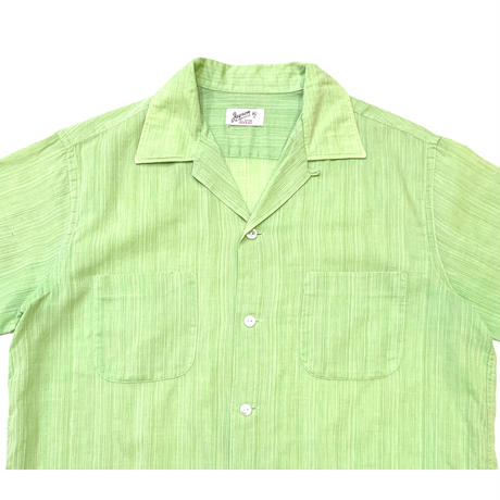 60-70's OPEN COLLAR SHIRT size M〜L