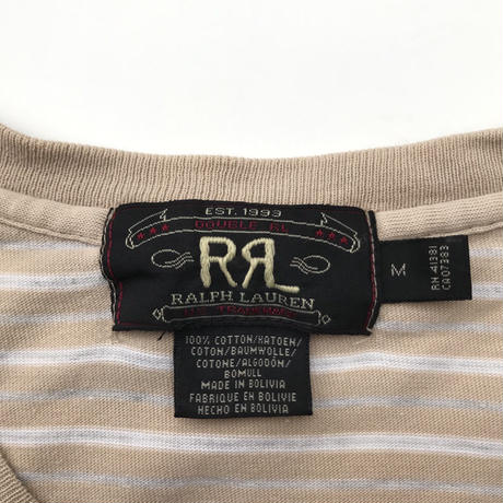★★★RRL★★★  Striped Tee Size-M 90s