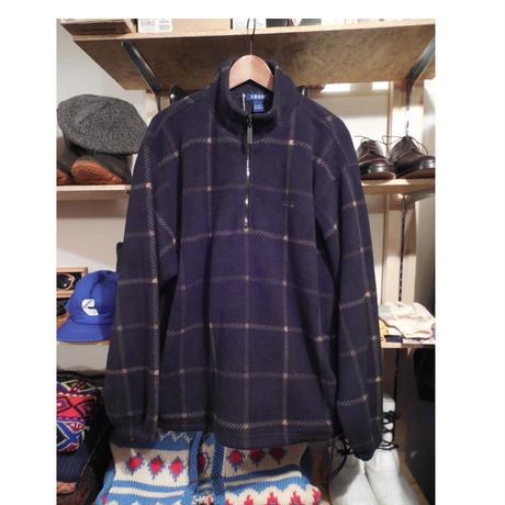 IZOD  pullover Fleece  L  BLACK