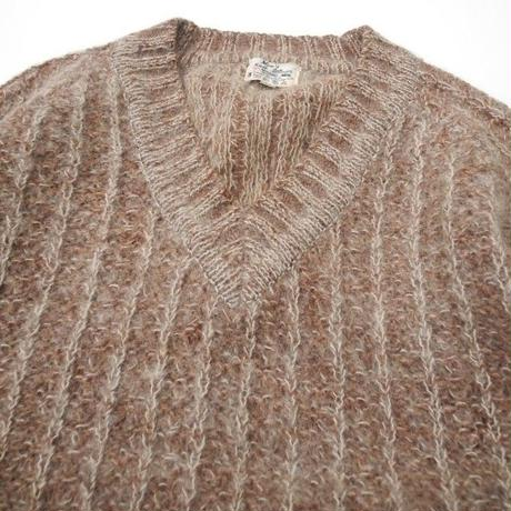 V NECK WOOL KNIT NISSHO IWAI M程