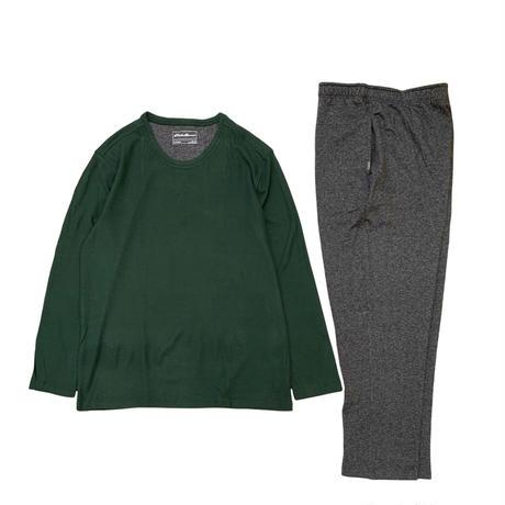 EDDIEBAUER LOUNGE SET (THERMAL SHIRT+FLEECE PANTS) size XL