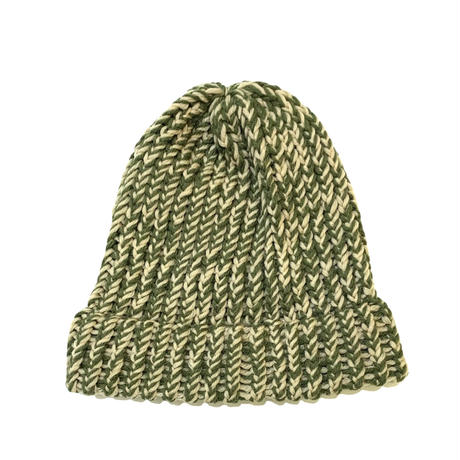 HAND MADE KNIT CAP (GREEN)