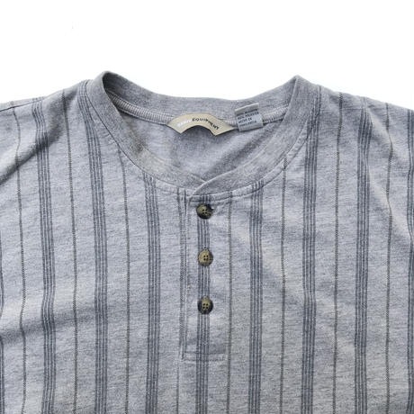 Striped Henry neck Tee Size-XL