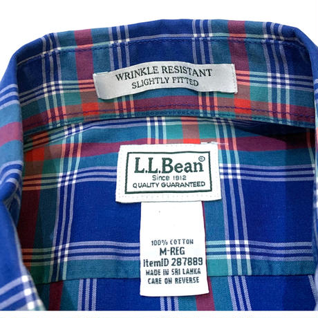 L.L.BEAN COTTON L/S SHIRT size M