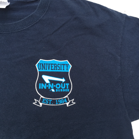 IN-N-OUT BURGER UNIVERSITY  T-shirt Size-L