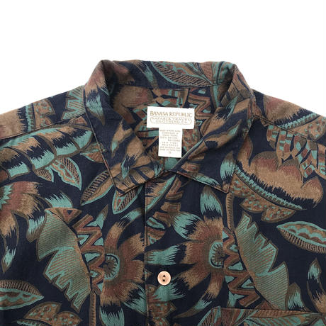 BANANA REPUBLIC SAFARI&TRAVEL CLOTHING Co. RAYON Shirt Size-S