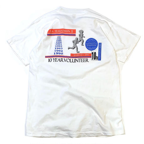 LOS ANGELES MARATHON 10TH ANNIVERSARY T-SHIRT size XL