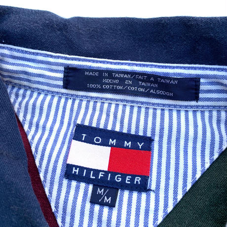 TOMMY HILFIGER L/S POLO SHIRT size L程