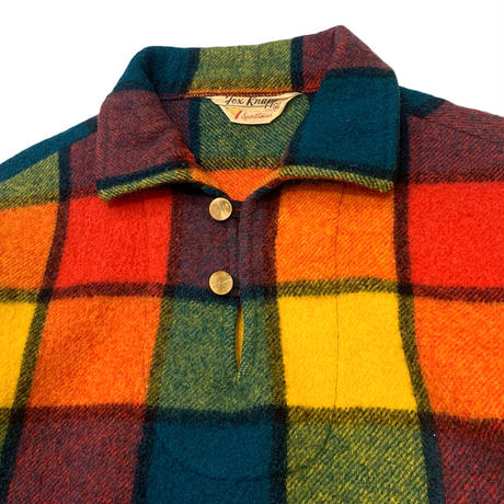 60-70's PULLOVER WOOL SHIRT size M