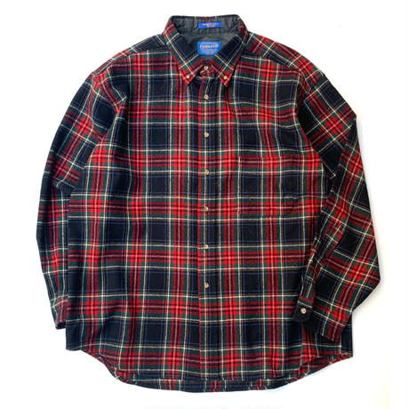 PENDLETON CHECK WOOL SHIRT MADE IN USA size XL