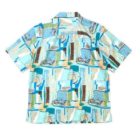 Patterned Polyester Shirt size L〜XL程