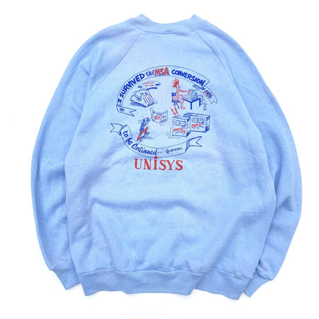 80's UNISYS SWEATER  MADE IN USA  size XL