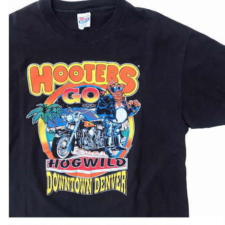 HOOTERS Tee🦉 Size-XL 90s~