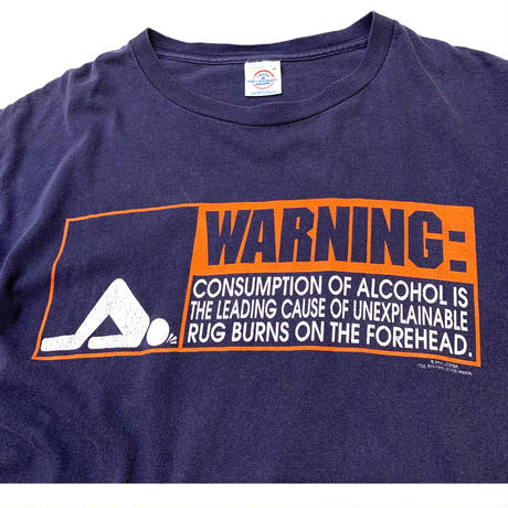 WARNING FOREHEAD T-SHIRT size M