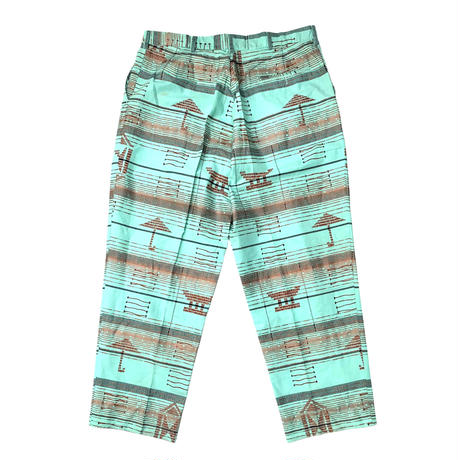 AFRICAN PATTERN 2TACK PANTS size 36inch程
