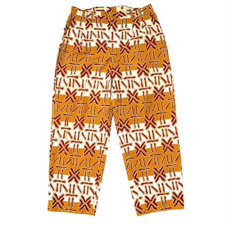 AFRICAN PATTERN 2TACK PANTS size 34inch程