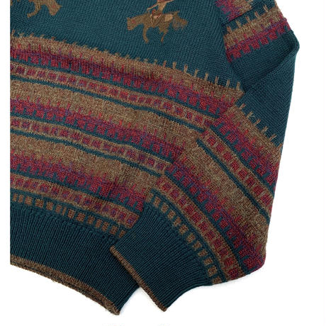 BORDER WOOL KNIT MADE IN ITALY size M
