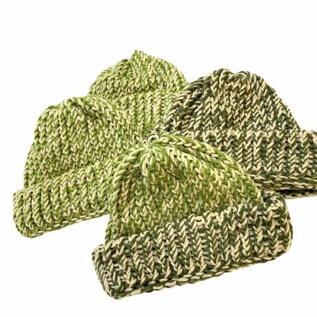 HAND MADE KNIT CAP (LIGHT GREEN)