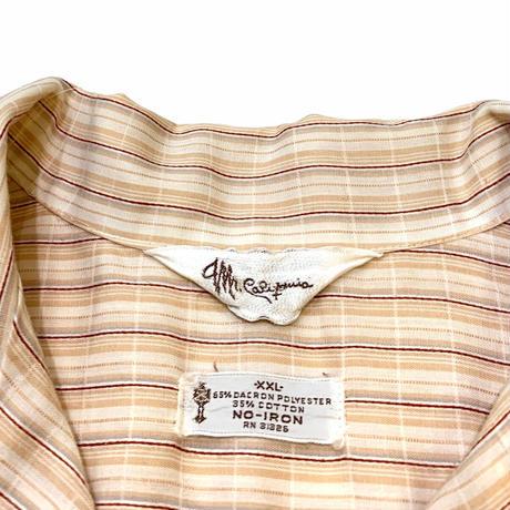 70's OPEN COLLAR SHIRT size XXL