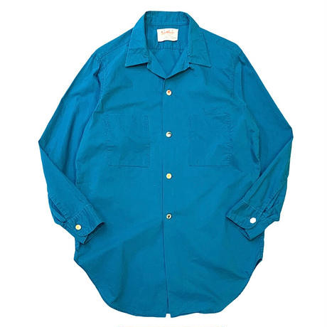 60-70's FLY BUTTON SHIRT size M程