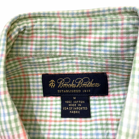 🍬Brooks Brothers Seersucker Shirt Made in usa🇺🇸 size M