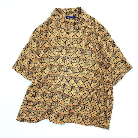 RAYON NATIVE PATTERN SHIRT size L程