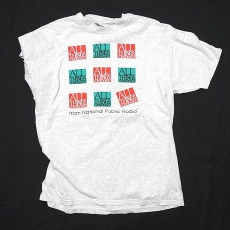 ALL THINGS CONSIDERED from National public Radio T-shirt SIZE-XL