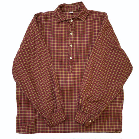 CHECK PULLOVER SHIRT size XL
