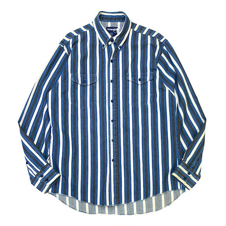 WRANGLER L/S STRIPED SHIRT MADE IN USA🇺🇸size L〜XL程