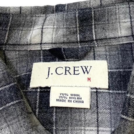 j.CREW WOOL SHIRT size M