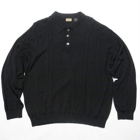 A[X]IST  RAYON×COTTON L/s POLO shirt XL