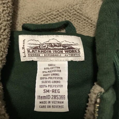 L.L.Bean🍂 Katahdin Iron Works Boa Hoodie Size-S